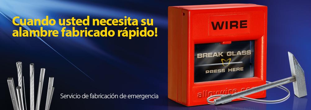 Servicio de fabricación de emergencia