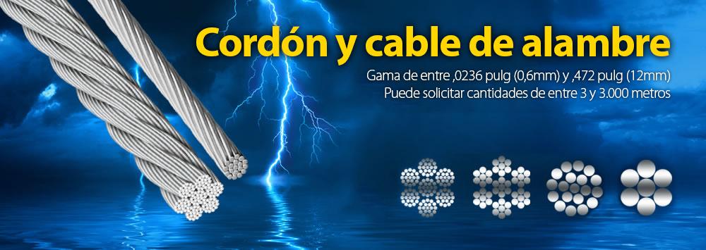Cordón y cable de alambre